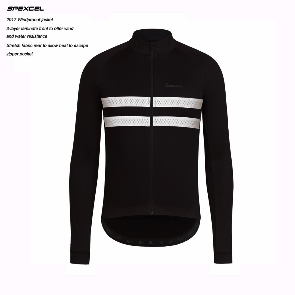 SPEXCEL top quality Black Reflective Winter Windproof Cycling Jacket Thermal fleece Jersey soft shell Cycling clothing 0 degree stylish fleece windproof hat black