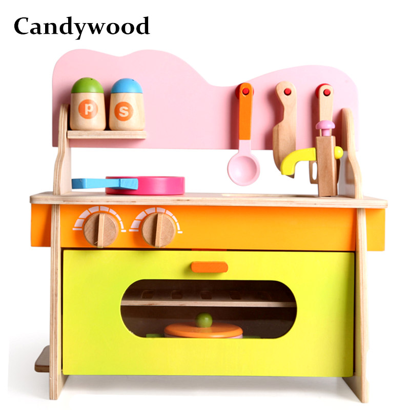 Candywood Mother Garden Baby kids wood kitchen cooking toys wooden kitchenette gas stove Educational Toys for girl gift candywood mother garden baby kids wood kitchen cooking toys wooden kitchenette gas stove educational toys for girl gift