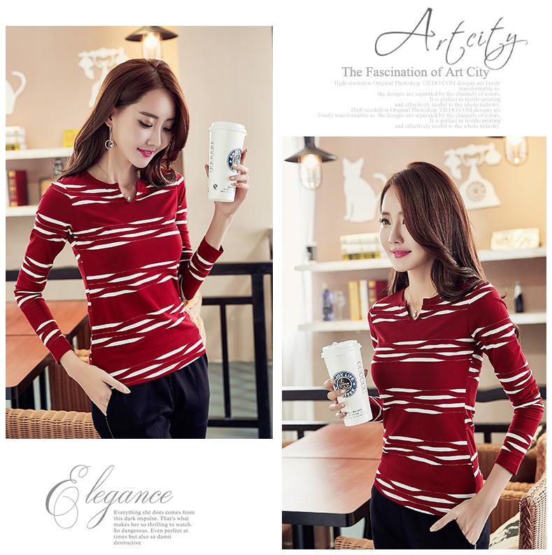 HTB1S4L6SpXXXXc1XXXXq6xXFXXXY - 2017 Autumn Winter Korean T-shirts For Women Cotton Fashion T Shirt