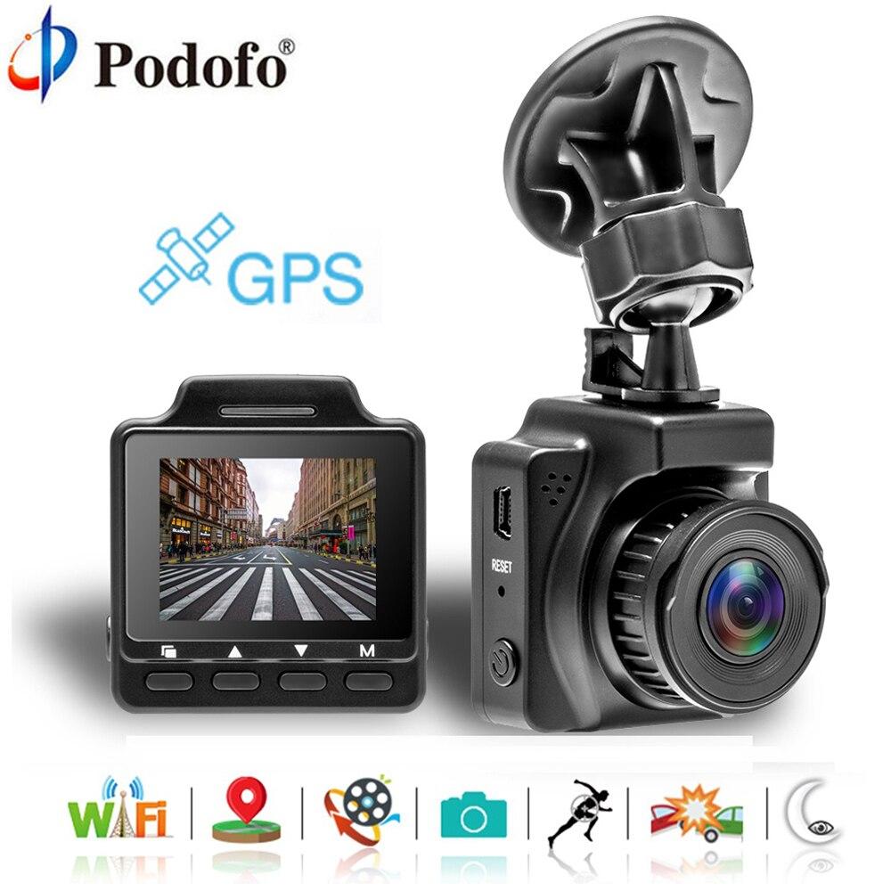 Podofo Dash Camera Dual Lens Car DVR Camera Wifi GPS FHD 1080P Dashcam Video Registrator Recorder G-sensor Night Vision Dash Cam цена