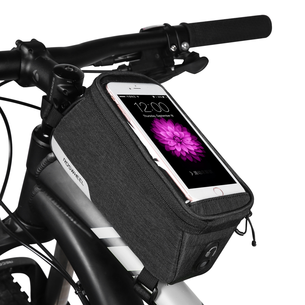 Cycling Bike Bicycle Front Frame Tube Handlebar Holder Pannier Pouch Case Bag US