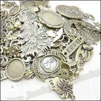 Gorący 80-250 wzór vintage charms mieszane 240 100szt antique bronze plated stop metali zawieszki diy ocena biżuteria