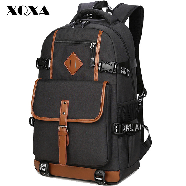 XQXA Style Oxford Backpack Men Casual Dayback Backpack School Bag for Teenagers Computer High Quality Daily Backpacks