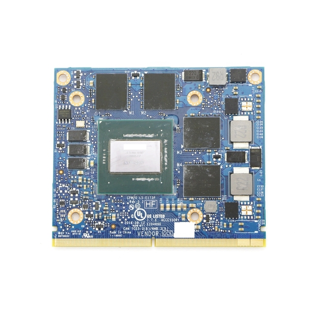 אמיתי Quadro M2200 GDDR5 4GB MXM וידאו כרטיס N17P Q3 A2 CPW70 LS E173P עבור HP ZBook 15 G4/17 G4