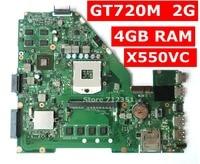X550VC GT720M 2GB VRAM 4GB RAM Motherboard REV 3.0 For ASUS R510V X550V X550VC A550V Laptop Mainboard 100% Tested free shipping