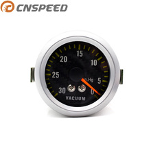 """CNSPEED """" 52 мм 12 В Автоматический Вакуумный датчик 0-30In.Hg Универсальный Автомобильный вакуумный измеритель из углеродного волокна белый светильник YC100033"""