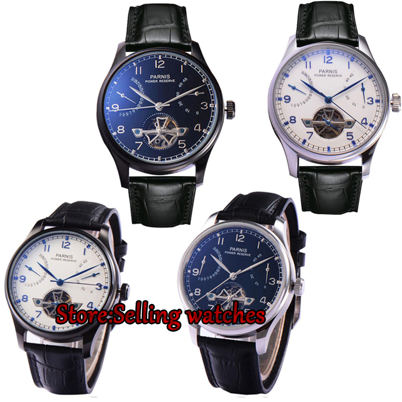 Parnis watch 43mm power reserve date Sea Gull Automatic Self-Wind Men's watch