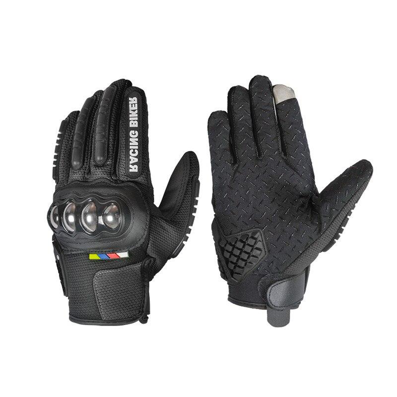 Luvas de proteção Da Motocicleta Motocross Luvas Luvas de tela de Toque de Aço inoxidável Motocicleta Luvas luvas de corrida de Moto Luvas Karting