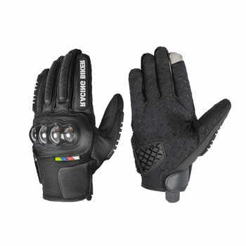 Gants de Moto de protection en acier inoxydable gants de Motocross écran tactile gants de course de Karting Moto Guantes Motocicleta Luvas