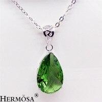 Urocze apple zielony stałe waterdrop style 925 sterling silver naszyjnik moda wisiorek biżuteria akcesoria
