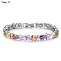 New 100 Original SWAROVSKI Bracelets For Women Summer Style Fashion Brand Bracelets Bangles Jewelry Zircon Romantic