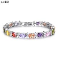 New 100 Original SWAROVSKI Bracelets For Women Summer Style Fashion Brand Bracelets Bangles Jewelry Zircon Romantic