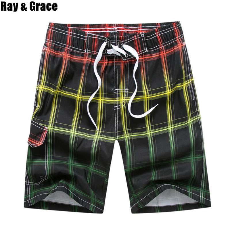 RAY GRACE Summer Men's Beach   Shorts   Beachwear   Board     Shorts   Quick Dry Sportswear Running   Shorts   Jogging Watersport Swim Trunks