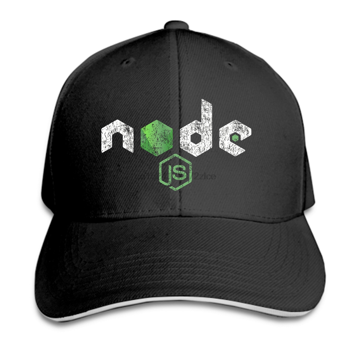 Print Custom Baseball Cap Men Vintage Distressed NodeJS JavaScript Programmer Women Hat Peaked cap
