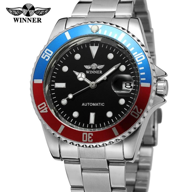 Prix pour Marque de luxe bracelet en cuir auto vent automatique Mécanique Montres hommes montres top marque de luxe relogio masculino Montre-Bracelet