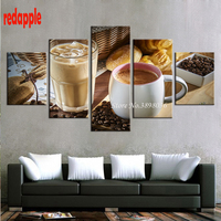 Coffee Cup Coffee Bean diy diamonds embroidery painting rhinestones pasted pictures mosaic 5d square drill 5pcs/sets crafts c19