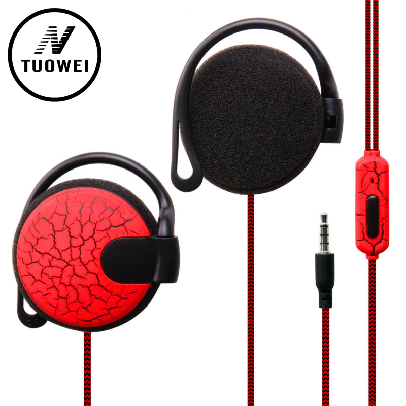 Sport Crack Headphones 3.5mm Headset Stereo HiFi EarHook Earphone For Mp3 Player Computer Mobile Telephone Earphone qkz c6 sport earphone running earphones waterproof mobile headset with microphone stereo mp3 earhook w1 for mp3 smart phones