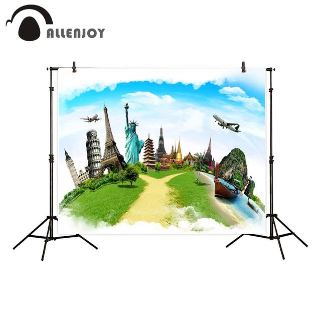 Allenjoy Photography Backdrop Travel Theme Famous Building