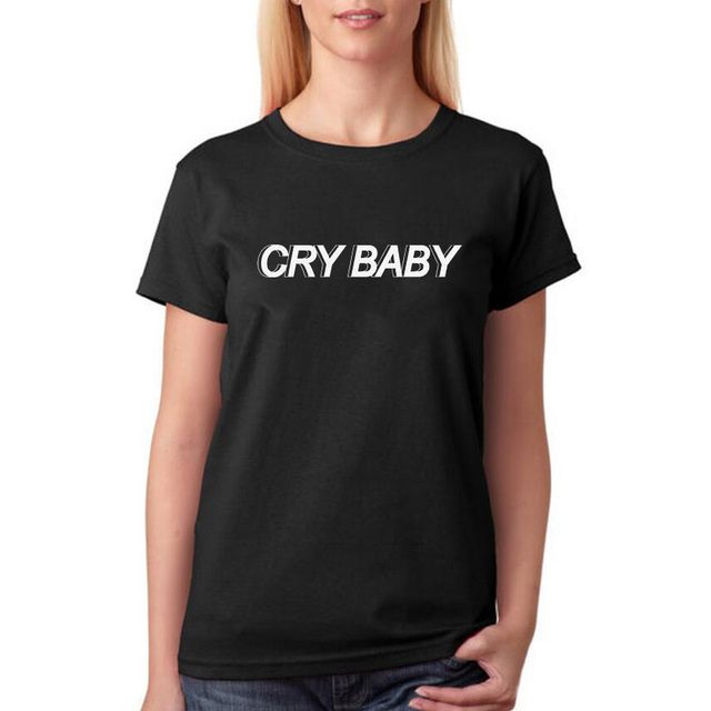 Cry Baby T Shirt Women Black White T Shirt Harajuku Tumblr Fashion ...