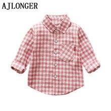 Ajlong/весенне-осенняя Строгая рубашка с длинными рукавами для мальчиков вечерние рубашки для детей 1-4 лет