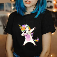 Korean Style Ulzzang Fashion Tshirt Plus Size Unicorn Tops Harajuku Kawaii T Shi