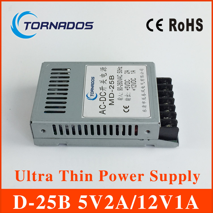 5V2A 12V1A Ultra thin dual output dc power supply 5v 12v for led driver Strip  light smps 85V-264V AC Input 20w 24v 1a ultra thin single dc output switching power supply for led strip light smps
