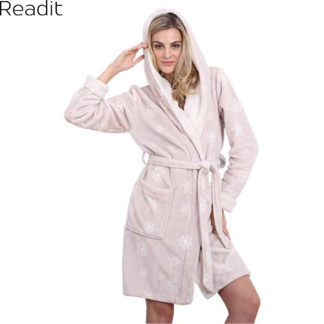Kapuze Damen Bademantel Warme Sexy Pyjamas Frauen Hause Kleid ...