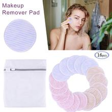 16PCS Reusable Make Up Cosmetic Cotton Pads Wipe Nail Art Cleaning Soft Daily Supplies Facial Makeup Remover