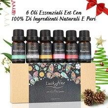 6Pcs/set 100% Pure Natural Essential Oil Blend Gift Set Orga