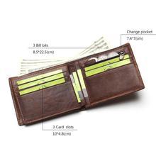 TAUREN Classic Genuine Leather Men Wallets Coin Pocket Zipper Men's Leather Wallet With Coin Purse Portfolio Cartera
