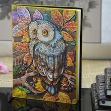 Vintage Handmade Diary Notebook Owl European Leather Notebook Travel Magazine Bible Book Planner School Office Supply Gifts недорого