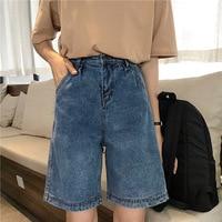 2019 Summer Women's Short Jeans High Waist Denim Shorts Female Straight Jeans Shorts