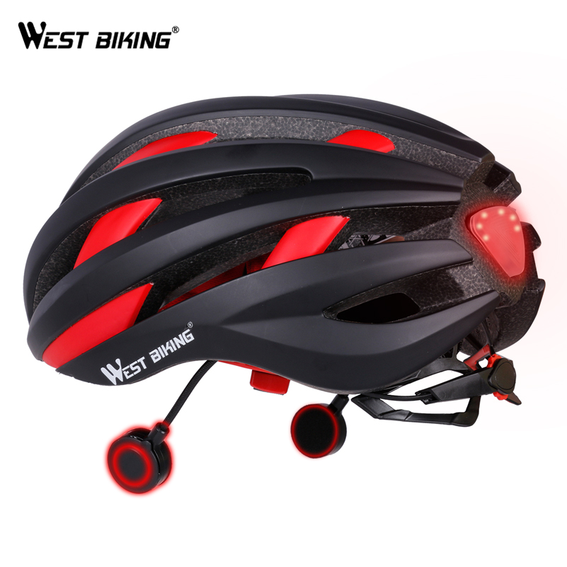 WEST BIKING Cycling Bluetooth Helmet MTB Road Bike USB With LED Taillight Bike Helmet Navigation Outdoor Safety Casco Ciclismo mtb bicycle helmet safety adult mountain road bike helmets casco ciclismo man women cycling helmet 1x helmet and 1xgoggles