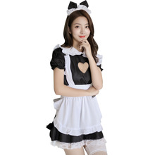 Jimiko erotic lingerie maid cosplay lace love hollow sexy maid uniform suit adult sex skirt uniform Costumes lingerie cosplay цена