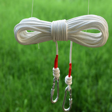 10m 15m 20m 25m corde 8mm 30m climbing rope with steel wire fire line Emergency outdoor rock
