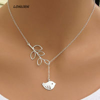 Europe And The United States Selling Simple Leaves Short Necklace Necklace Leaves Bird EBay Aliexpress Selling