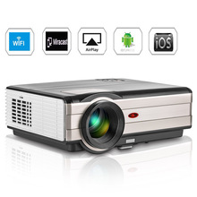 CAIWEI LCD Android WiFi Bluetooth Projector LED Beamer Home Theater Cinema Audio Full HD Video TV for Smartphone Laptop