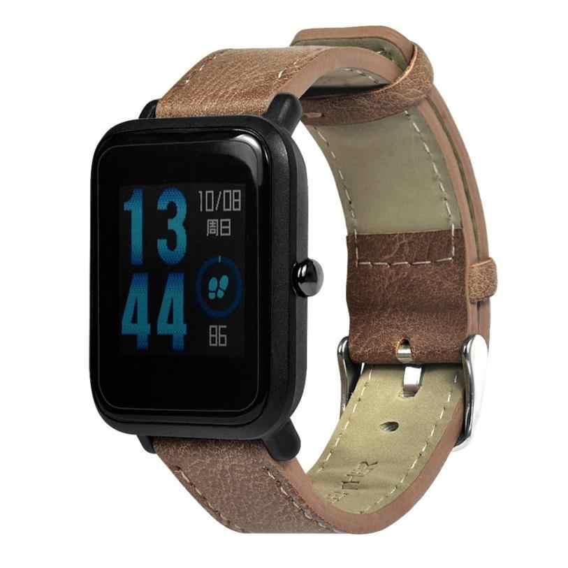 Retro Ersatz Armband Leder Band Für Xiaomi/ Huami /Amazfit /Bip/Jugend Uhr fitness tracker aktivität tracker freies Schiff