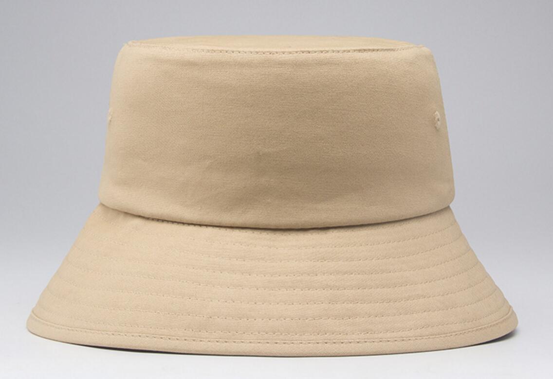 eb9715b96ba42 6pcs Classic Blank Cotton Bucket Hats for Men Women Spring Summer Plain Fisherman  Hat Quality Solid Colors Fisher Cap Wholesale