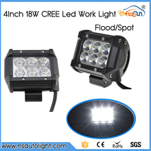 Free shipping 2pcs 4 INCH 18W CREE Chips LED WORK LIGHT FOR OFF ROAD 4X4 4WD