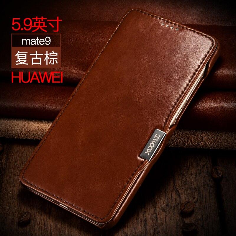 Цена за Оригинальный xoomz натуральная кожа чехол для Huawei Mate 9 Роскошные флип магнитного крышку телефона чехлы Сумки для Huawei Mate 9 Винтаж Чехол