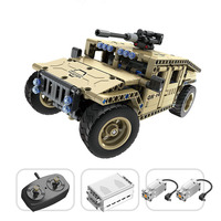 Technic Series Remote Control Building Blocks RC Armed Hummer Car Compatible Legoing Military City Kits Model Toys For Children