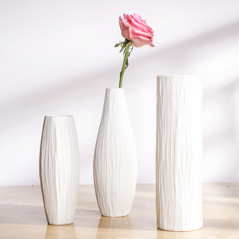 Aliexpress Com Buy Brief Modern Ceramic White Vase Home Accessories Desktop Decoration Fashion Home Decoration From Reliable Ceramic White Vase Suppliers