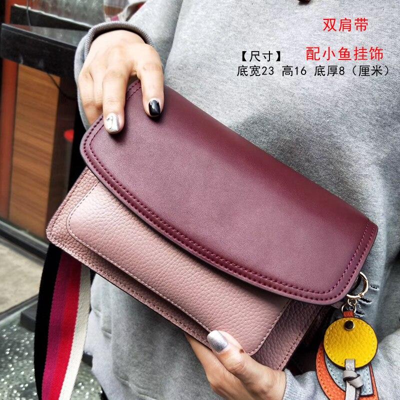 Новая высококачественная сумка через плечо из натуральной кожи, женская сумка, маленькая черная женская сумка мессенджер - 5