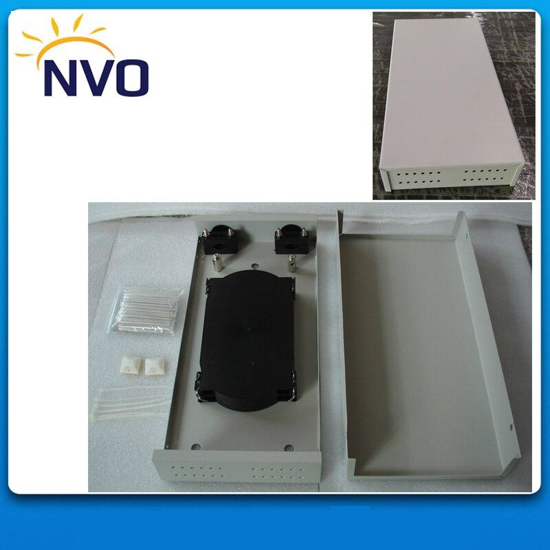 FTTH Petite Taille Fiber Optique Boîte à Bornes 24 core matériau Métallique avec Cassette D'épissure En Plastique
