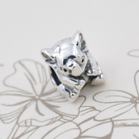 Top Quality Vintage Cute Small Elephant Animal Bead Charms Fit Women Pandora Bracelets Bangles 925 Sterling
