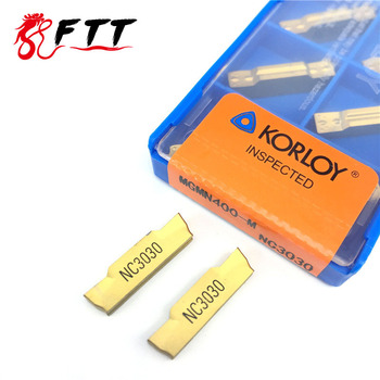 10PCS MGMN400 M NC3030 grooving carbide inserts MGMN 400 lathe cutter turning tool Parting and grooving tool Parting off Turning Tool