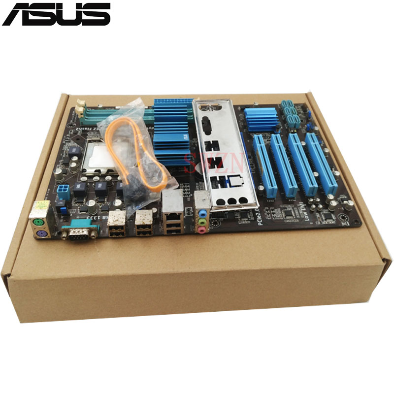 original Used Desktop motherboard For ASUS P5P43T SI P43 Support LGA775 Maximum DDR3 16GB 6*SATA2 ATX Main Board asus p5ql cm desktop motherboard g43 socket lga 775 q8200 q8300 ddr2 8g u atx uefi bios original used mainboard on sale