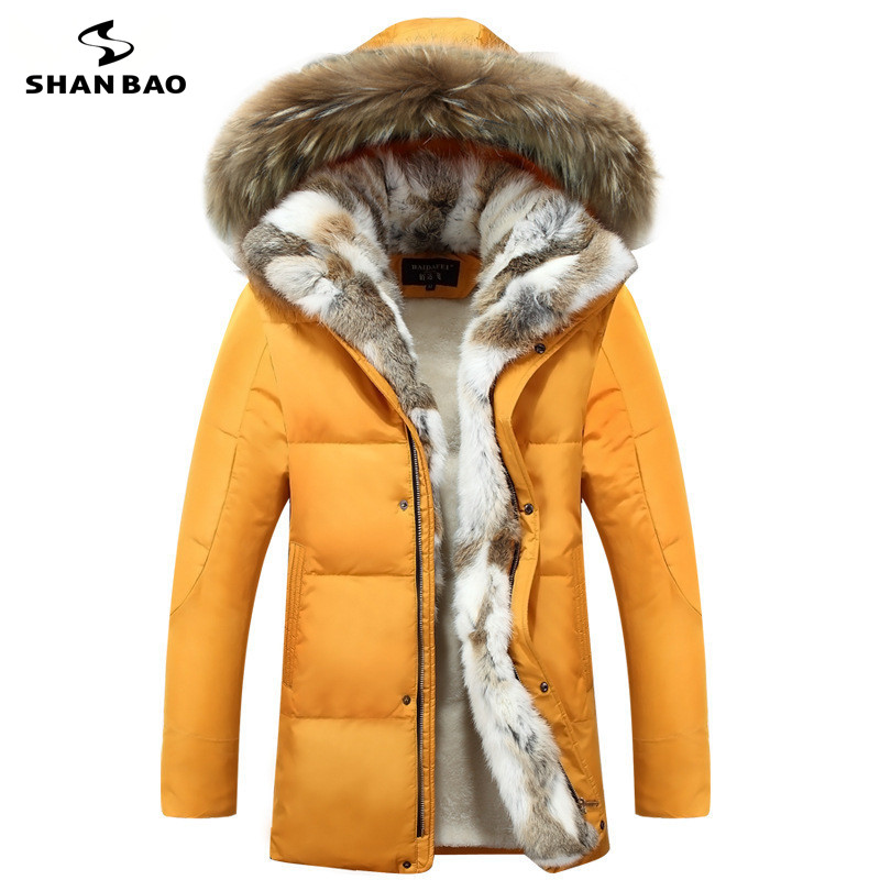 Men's And Women's Leisure Down Jacket High Quality Thick Warm Warm With Fur Hooded Parka Brand Big Size Yellow Black White S-5XL