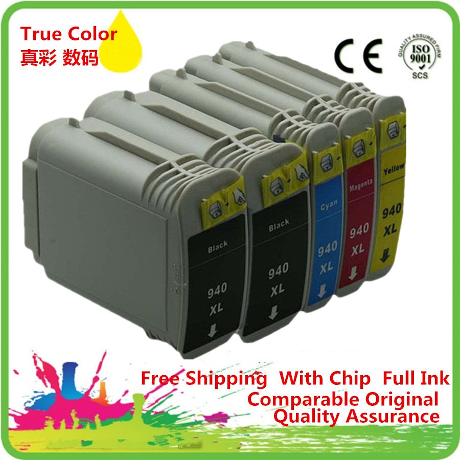 5 Pack 940 XL 940XL Ink Cartridges For HP HP940 HP940XL Officejet Pro 8500A - A910a A910g A910n 8000 8500 8500A Inkjet Printer xiaying smile summer new woman sandals platform women pumps buckle strap high square heel fashion casual flock lady women shoes